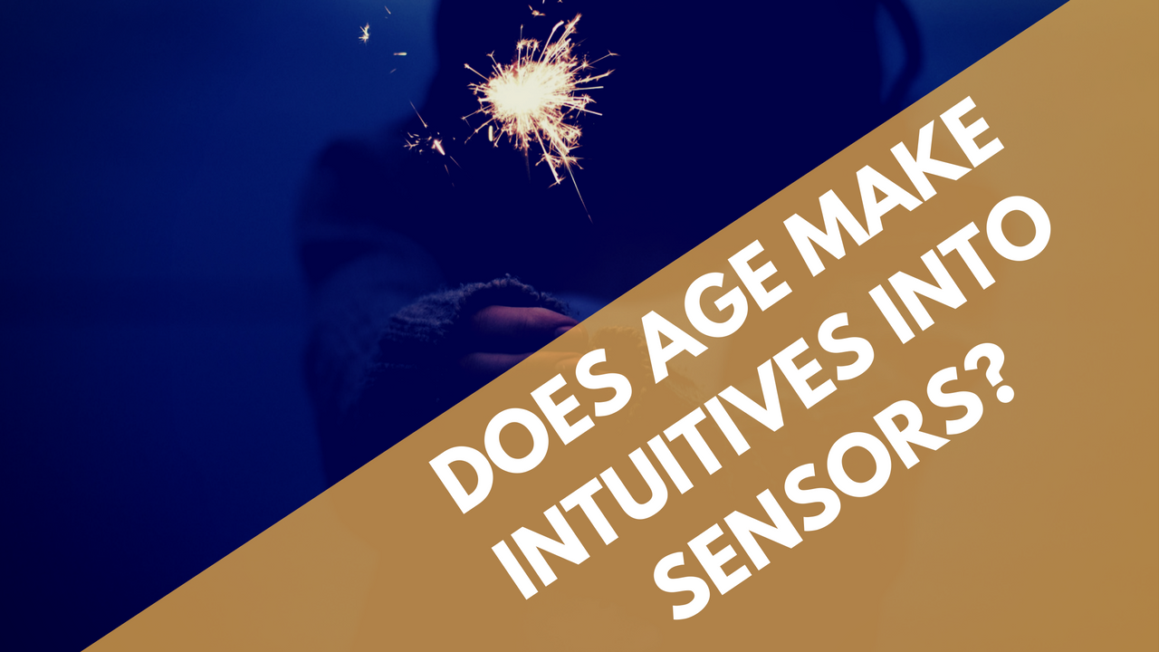 Are older people more likely to identify as sensors?