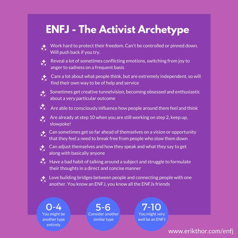 ENFJ Personality Type - The Passionate Activist » Erik Thor