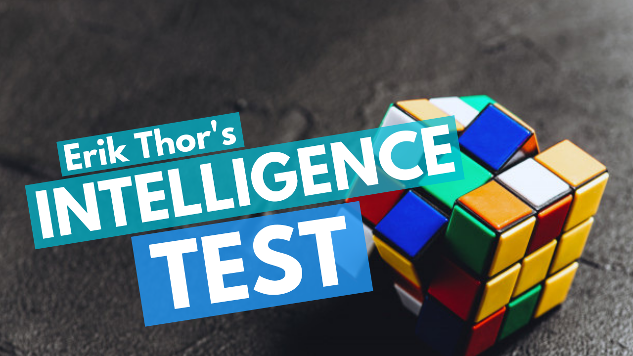 Intelligence Test, Sixteen Intelligences, Erik Thor's Intelligence Test, Types of intelligences, Cognitive Function Test