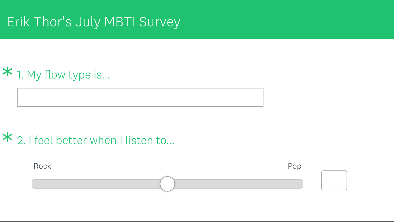 The July MBTI Survey