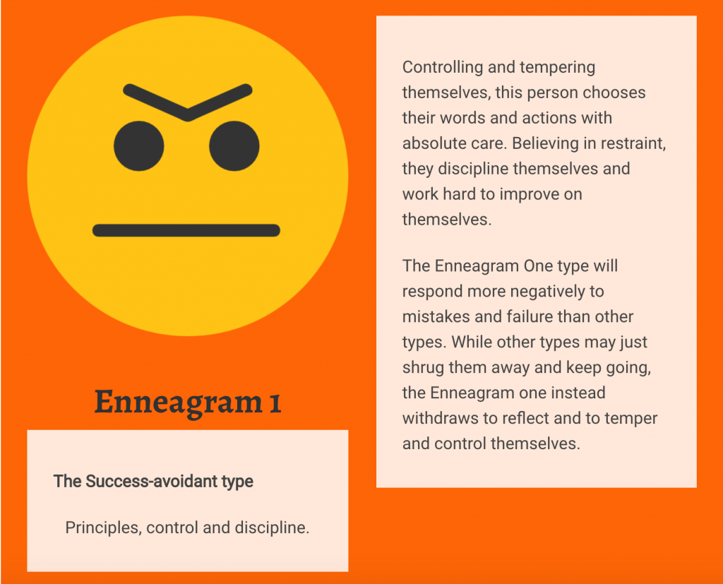 Enneagram 1 Personality Type