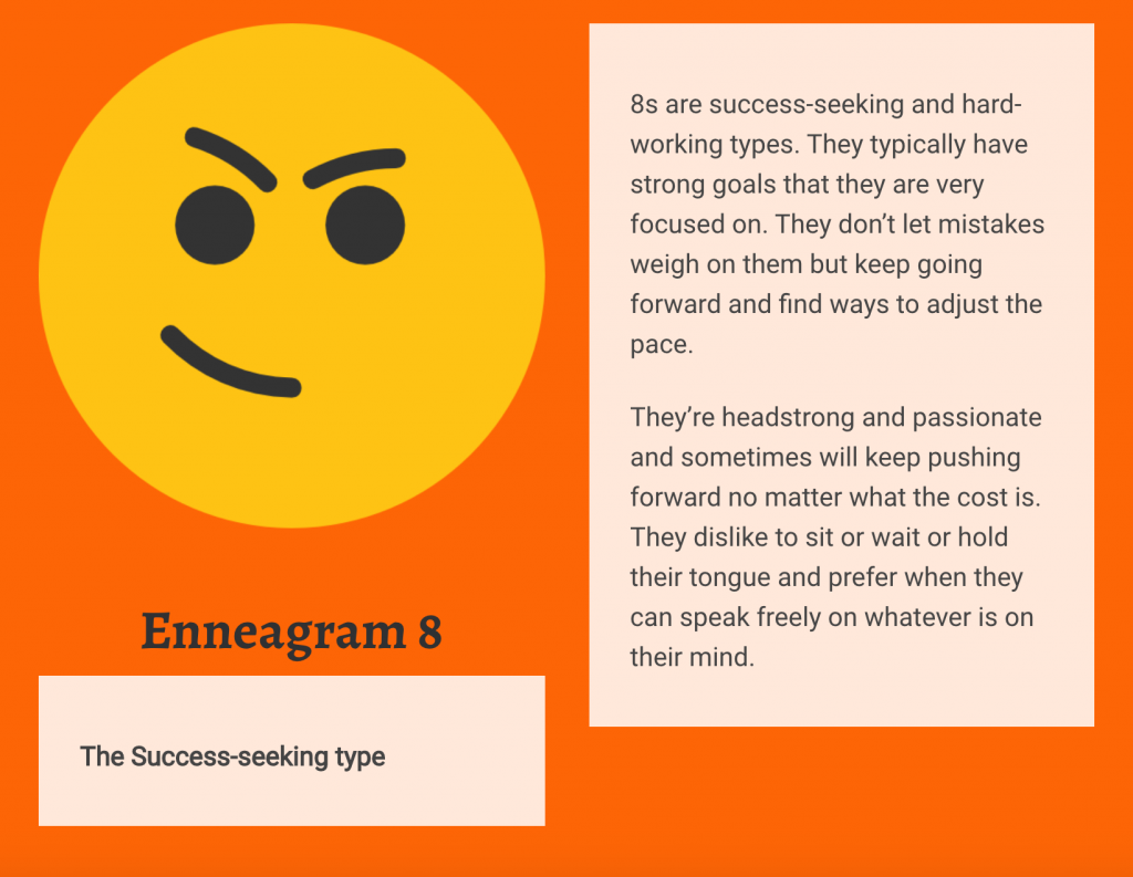 Enneagram 8 Personality Type