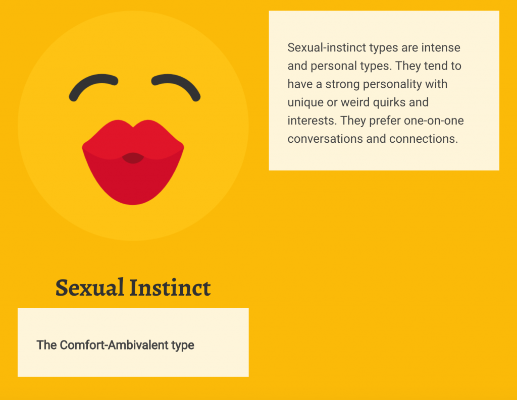Sexual instinct personality type