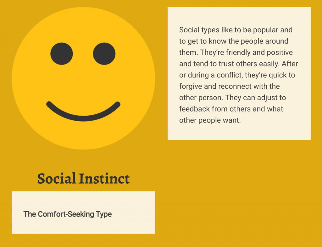 Social instinct personality type