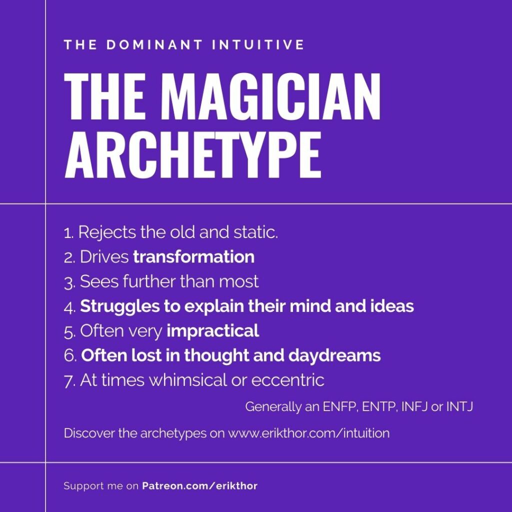 The Magician Archetype Jung, Dominant Intuition