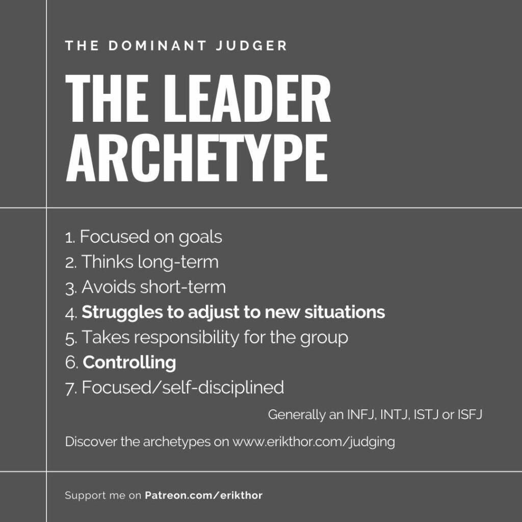 Judging MBTI, MBTI Judging, The Leader Archetype