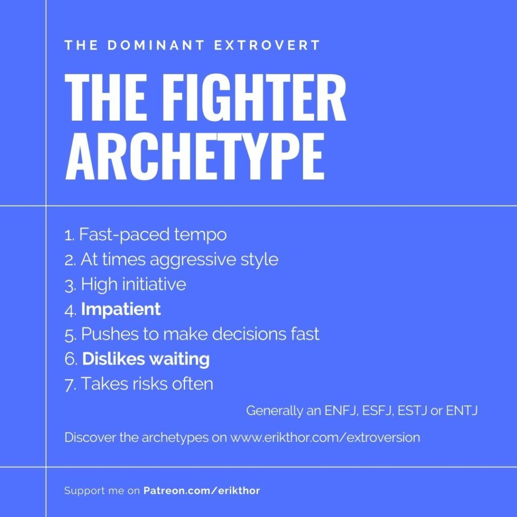 Extrovert personality type, MBTI extroversion, Carl Jung Extroversion, Fighter Archetype, MBTI Extrovert