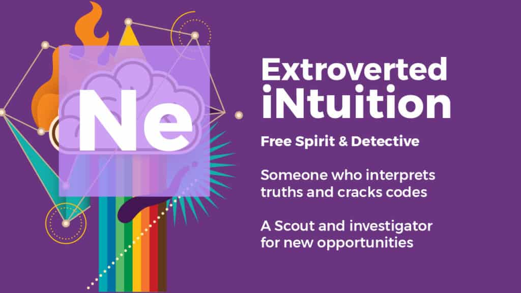 What is extroverted intuition, What is the difference between extroverted and introverted intuition, how do you develop extroverted intuition, what does extroverted intuition look like