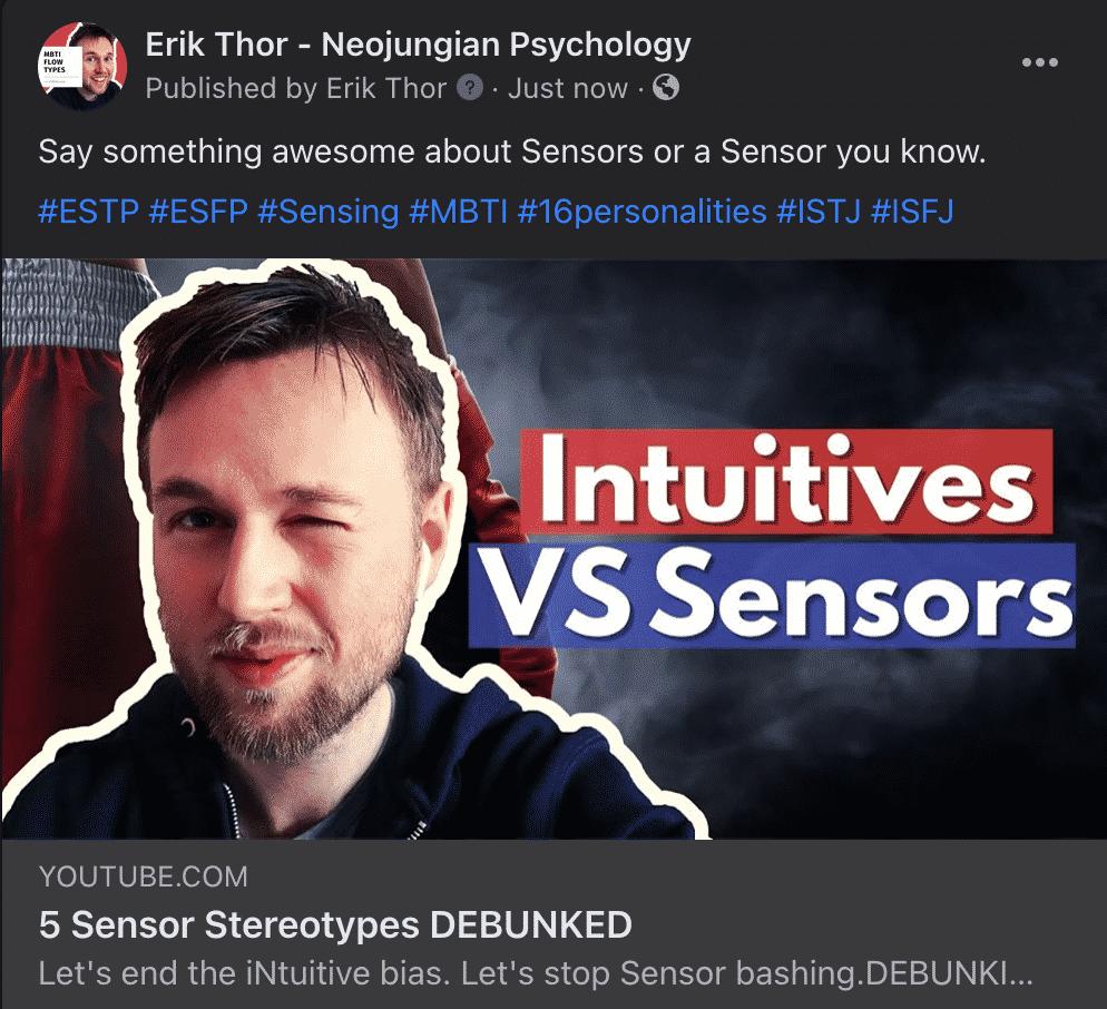 Why Sensors Rule The World, Sensor Bias, Intuitive Bias, Sensor Bashing, Sensors vs Intutives